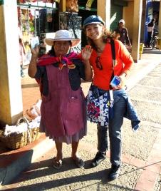 Missionária Mina durante o evangelismo