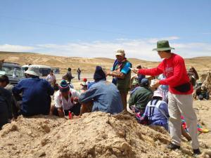 Levando a Palavra na região dos Andes de Bolívia