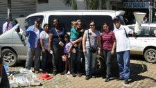 Nossa equipe no evangelismo na cidade de Montero