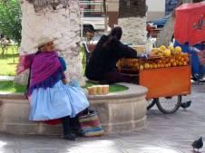 Praça da cidade de Tarija - Bolívia