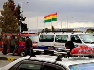 Bandeira da Bolívia no El Alto - La Paz