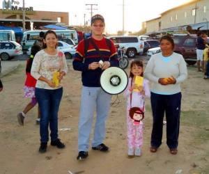 Pregando nas feiras de Bolívia