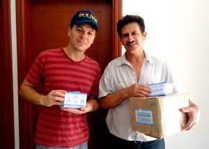 Pastor Peniel e irmão Jaime na Base de Apoio